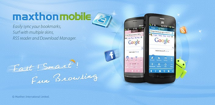 스마트폰 안드로이드 웹브라우저 추천 맥슨(Maxthon) 어플