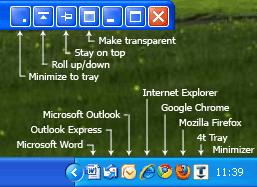 윈도우7, 윈도우7 필수 프로그램, 윈도우 필수 프로그램, 필수 프로그램, 추천 프로그램, 작업창 관리도구, 윈도우7 관리도구, 작업표시줄, 트레이 미니마이저, 미니마이저, 4t Tray Minimizer