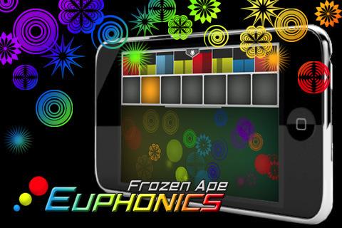 아이폰, 아이팟터치 색과 형태로 연주와 작곡 유포닉스-Euphonics LE