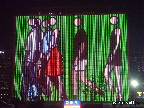 서울스퀘어 led facade