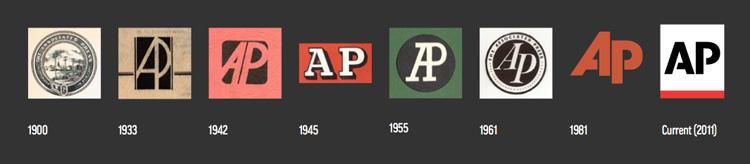 AP통신 로고 디자인의 변화