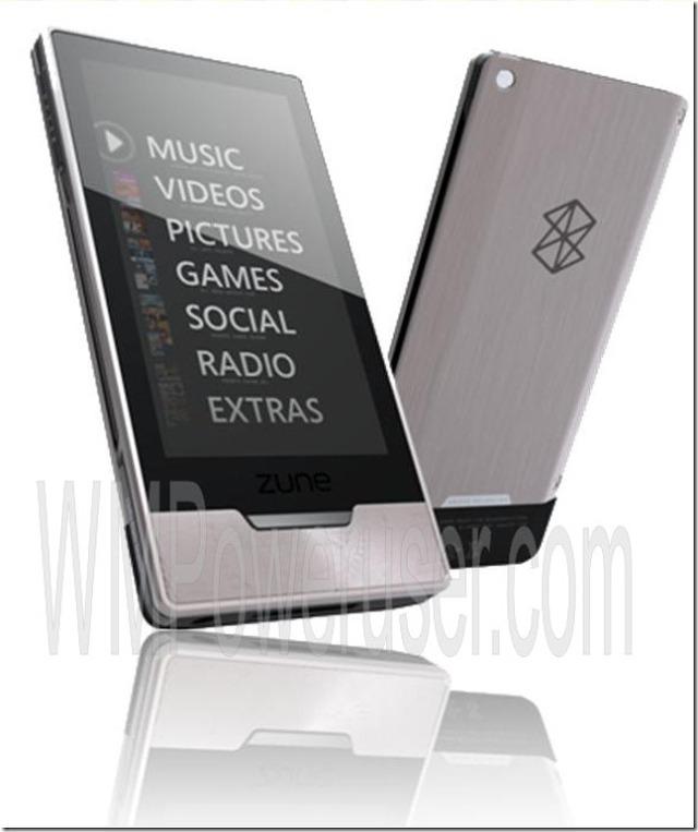 정전방식의 멀티터치 OLED를 탑재한 마이크로소프트 ZuneHD 일부 사진 유출