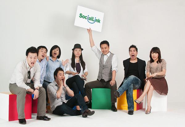 소셜링크 단체사진 (프리스타일 버젼)