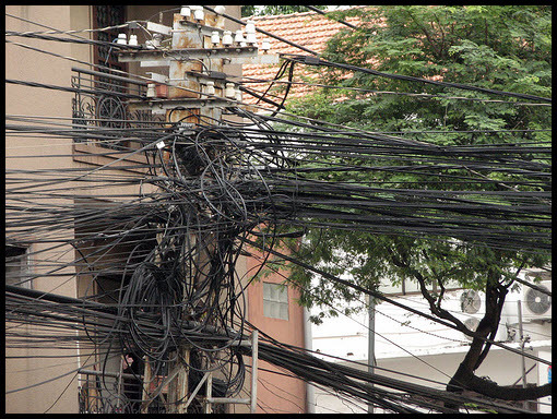 Funny India Power Lines Photos