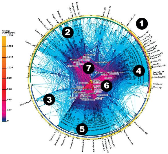 이미지 출처: 구글 이미지 검색, http://discovermagazine.com/2006/oct/map-internet-servers, 일부 편집수정