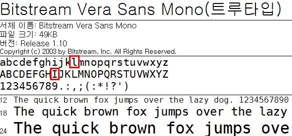 Bitstrem Vera Sans Mono