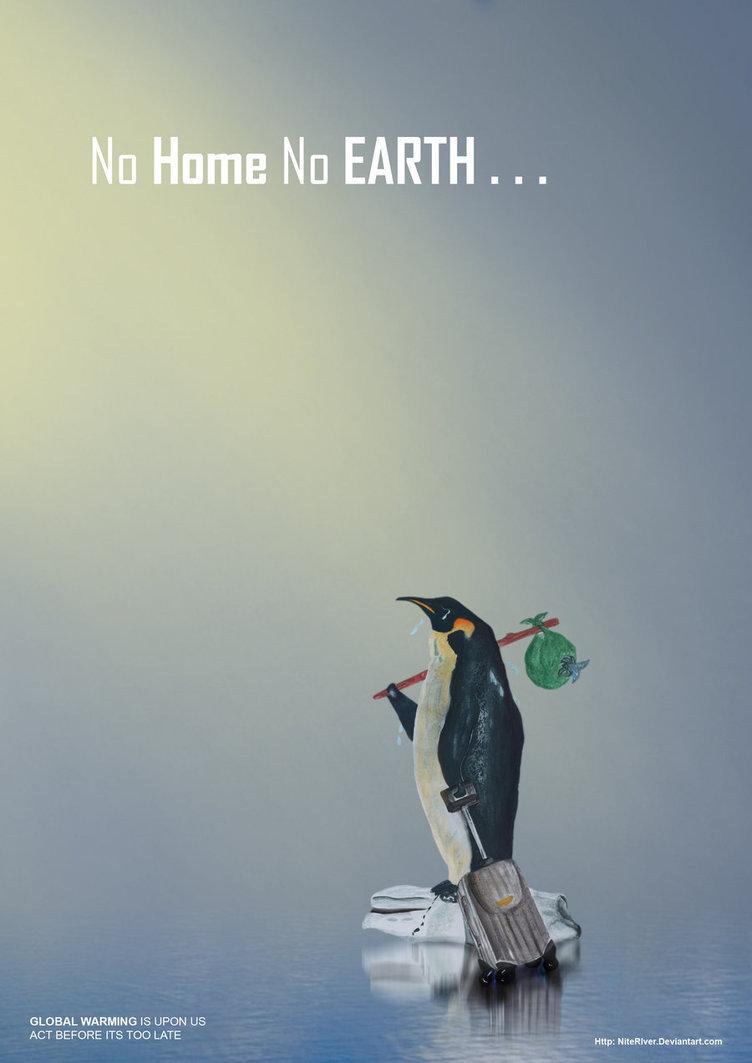 Ảnh - Poster tuyên truyền về sự nóng lên của trái đất