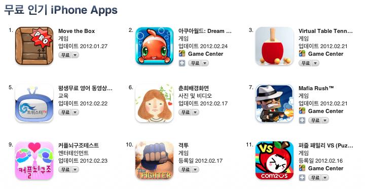 앱스토어 무료 인기 iPhone Apps 아이폰앱