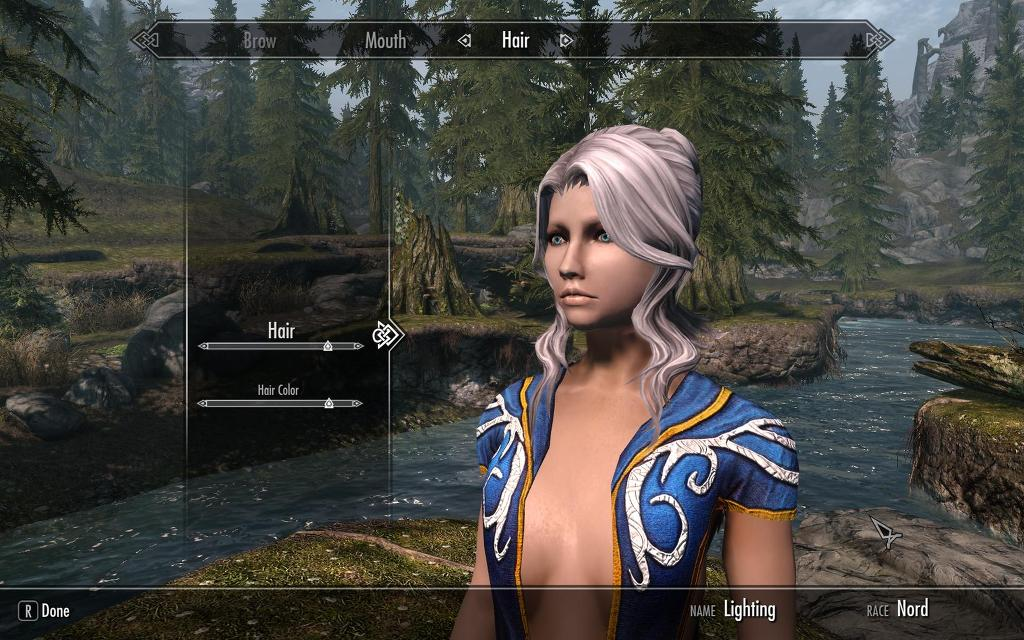 skyrim tera hair pack