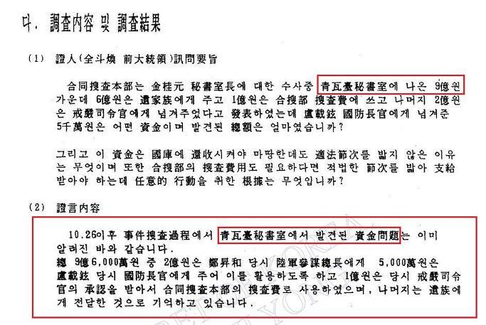 '박정희 전대통령 사망직후 청와대 재산 행방의혹조사'