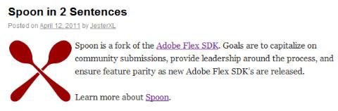 http://jessewarden.com/2011/04/spoon-in-2-sentences.html