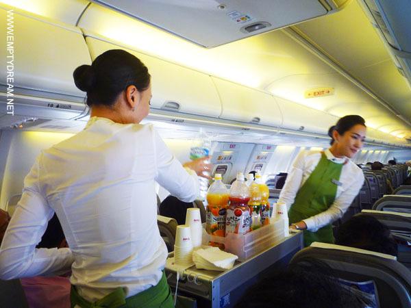 티웨이항공 기내 서비스