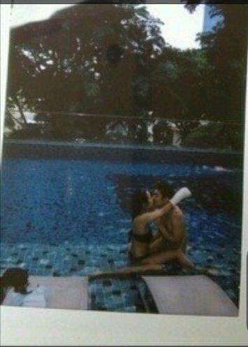 이용대 여자친구 사진 유출 수영장서 진한 키스 충격