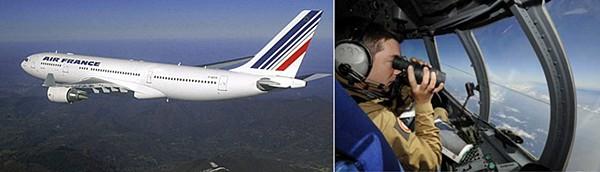 에어프랑스 A330-200 기종과 사고기 수색작업