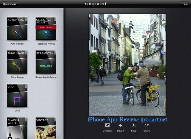 Snapseed 아이폰 아이패드 공용 사진 편집 앱