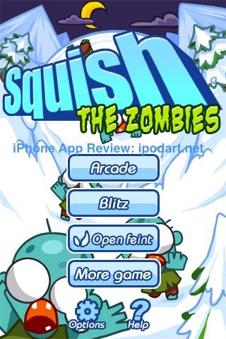 아이폰 아이팟터치 게임 Squish The Zombies