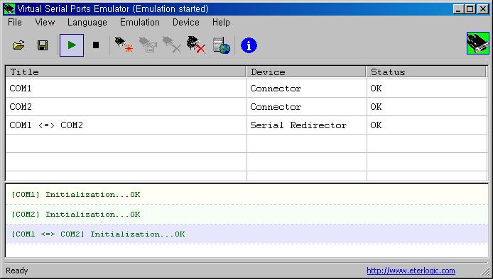 무료 가상 시리얼포트 에뮬레이터(Virtual Serial Ports Emulator)