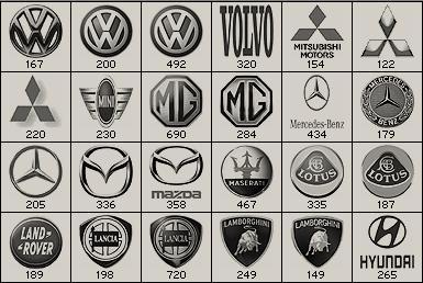 Design resources :: 자동차 브랜드 로고 포토샵 브러쉬 무료 다운로드