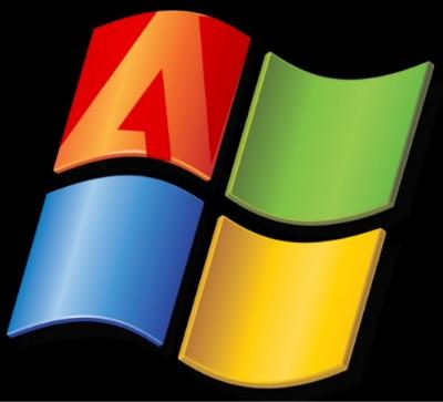 <화면 1> 마이크로소프트와 어도비 로고 패러디