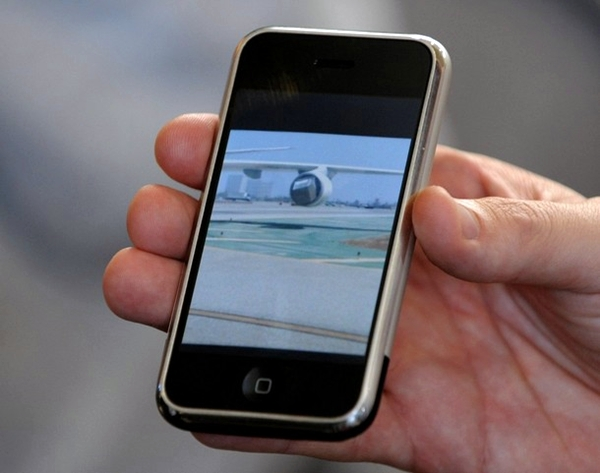 승객들 휴대전화에 찍힌 모습