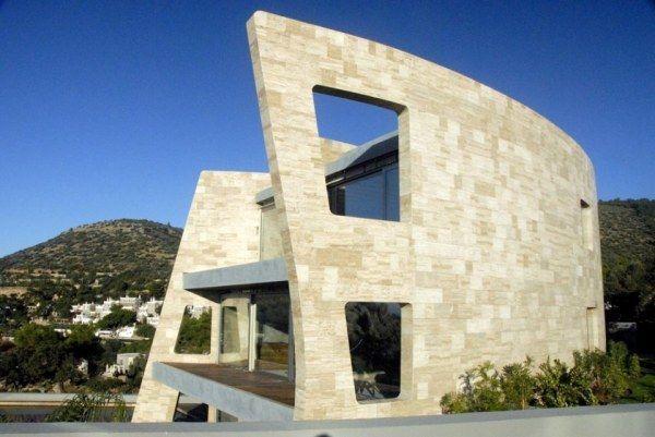 for Casas modernas revestidas en piedra