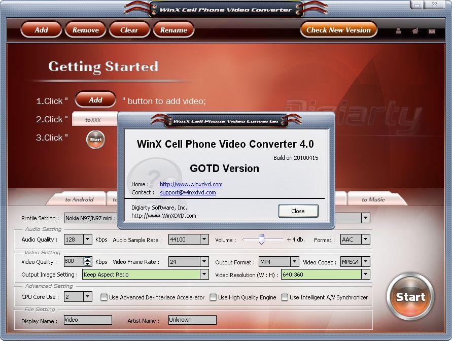 설치한 뒤 실행 화면 - 라이선스 확인 : GOTD 특별 버전