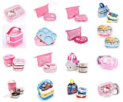 kids, children, shoes, cup, thomas, toy, character, kitchen, korean, korea, sponge bob, hello kitty, fork, spoon, lunch box, cho