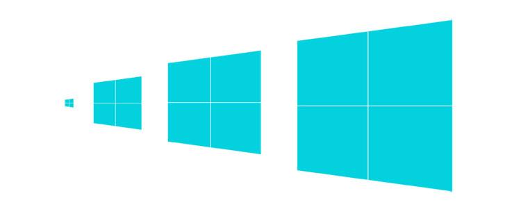 윈도우 8 새로운 로고디자인