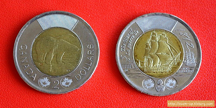 캐나다 역사와 동전 이야기 2달러 투니