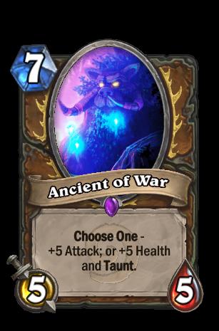 하스스톤 전쟁의 고대정령 ancient of war