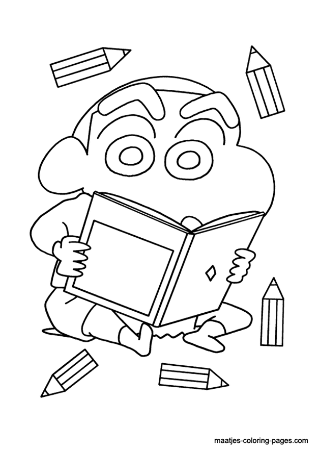 for Shin chan coloring pages