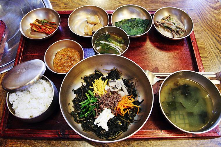별채반 정식 곤달비비빔밥 별채반 메뉴 경주별채반