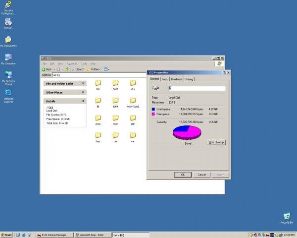 Ext2fsd로 마운트한 리눅스 파티션