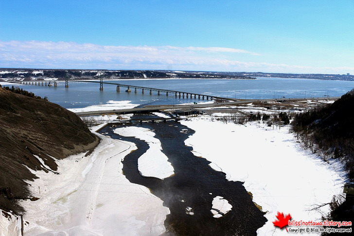 캐나다 동부 여행 퀘벡 주 몽모랑시 폭포 절경