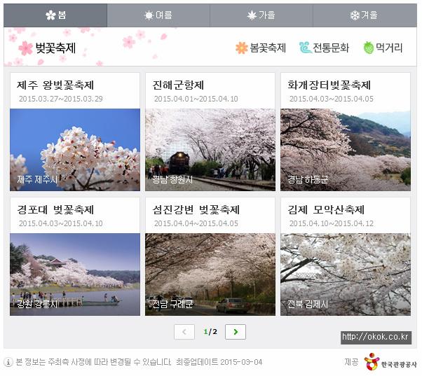 2015년 벚꽃축제