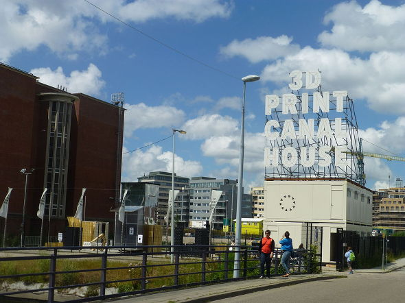Printing 3D house project at Amsterdam