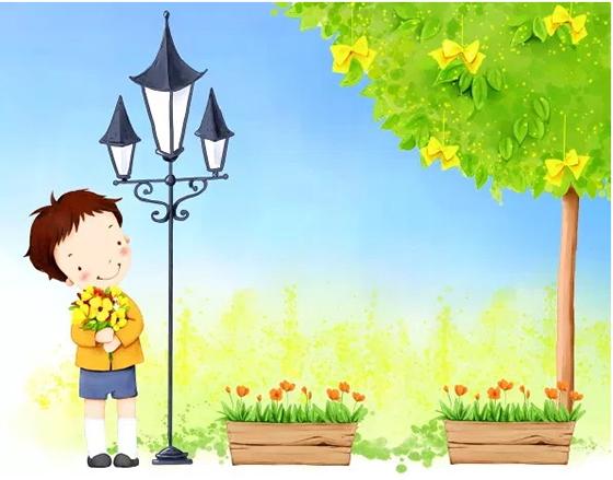 손으로 그린 꽃으로 사랑스러운 아이 PSD 배경
