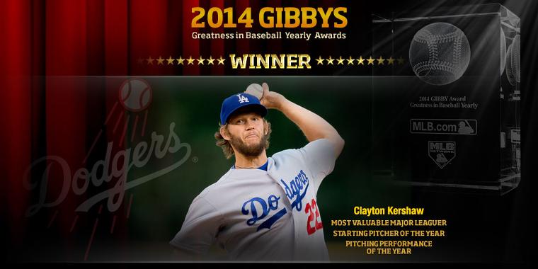 2014 GIBBYS 커쇼, 가장 가치있는 메이저리거(Most Valuable Major Leaguer) 수상