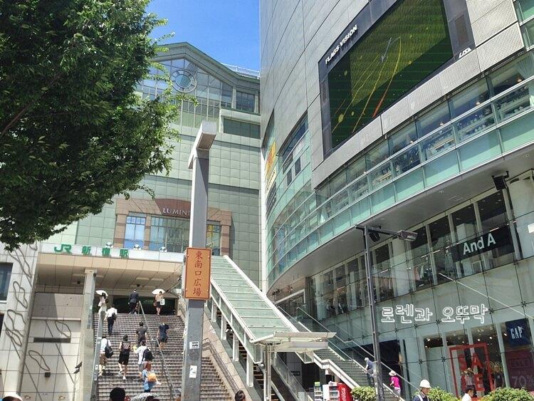 도쿄 신주쿠역 내부와 주변 풍경12