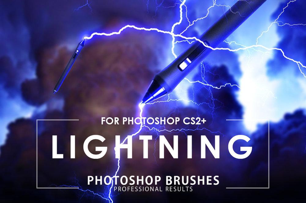 3 가지 번개(lightning) 포토샵 브러쉬 - 3 Free Lightning Photoshop Brushes