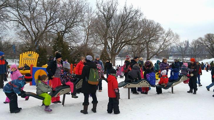캐나다 겨울 축제 오타와 윈터루드 winterlude 시소