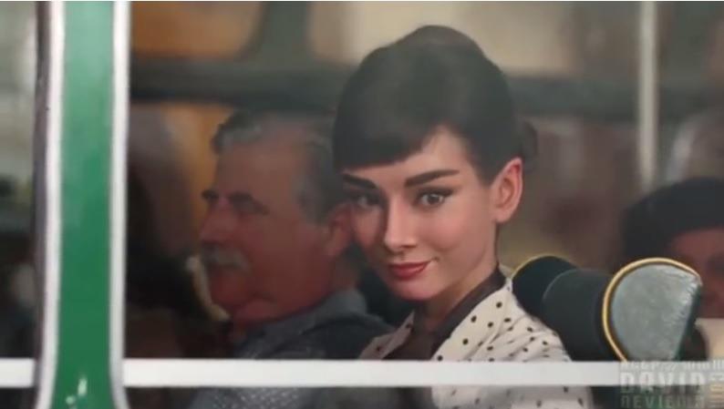 오드리햅번 CG 광고