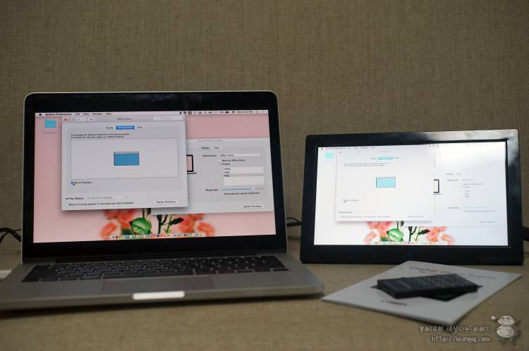 서브모니터, 미니모니터, 디지털액자, pf1040ips, hdmi, 사용법