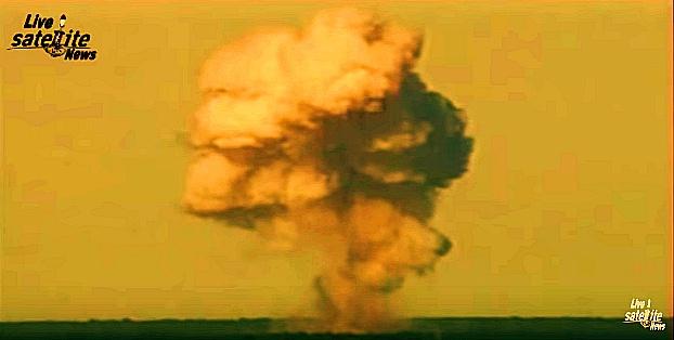 MOAB GBU-43 폭발장면