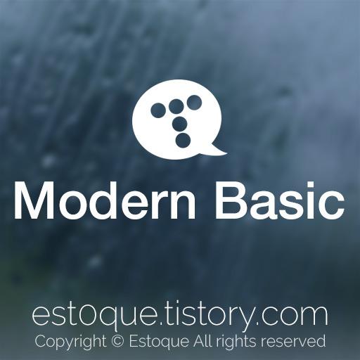 Modern Basic - 티스토리 기본 스킨의 HTML5/ CSS3 버전