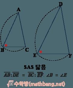 삼각형의 닮음 조건 2 - SAS 닮음