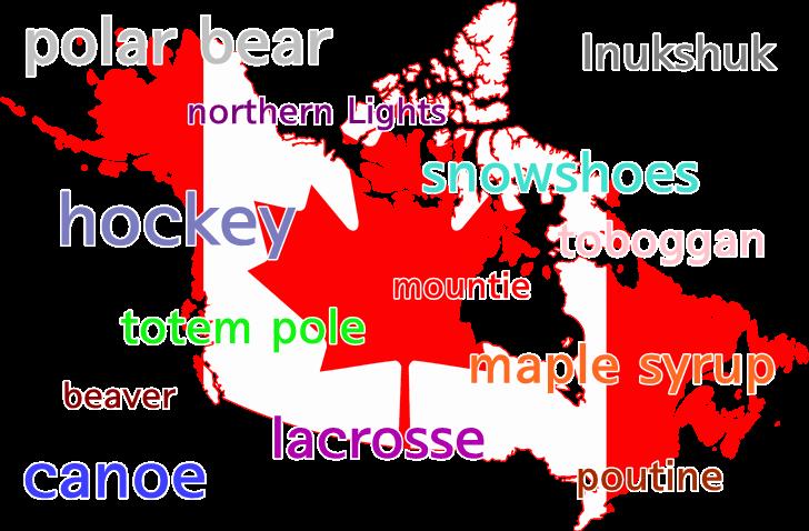 캐나다를 대표하는 것들입니다