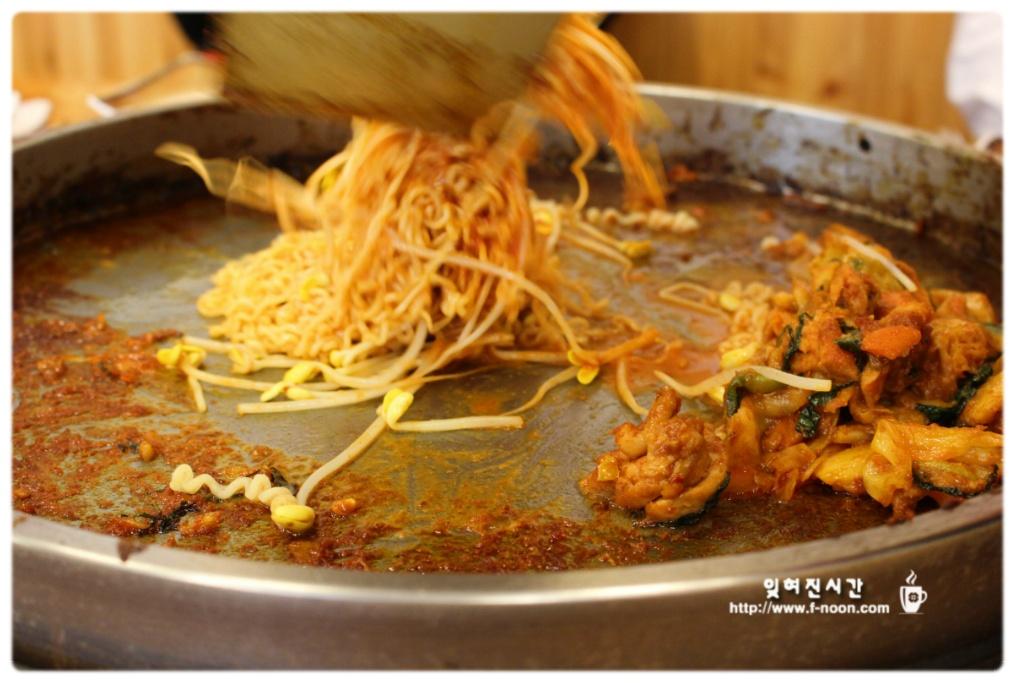 중부동맛집 춘천닭갈비 라면사리