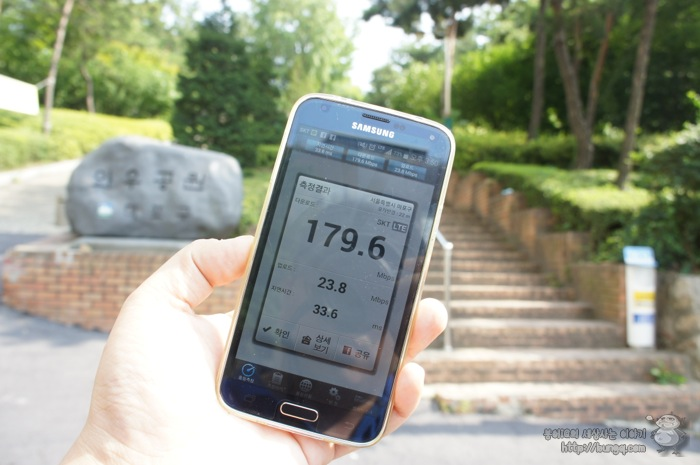 SKT 광대역 LTE-A 속도 측정, 홍대 커피골목에서 고기골목까지