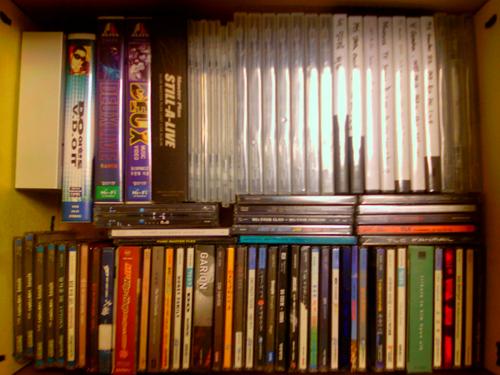 작업대상 1호 : 정리상자안의 CD들